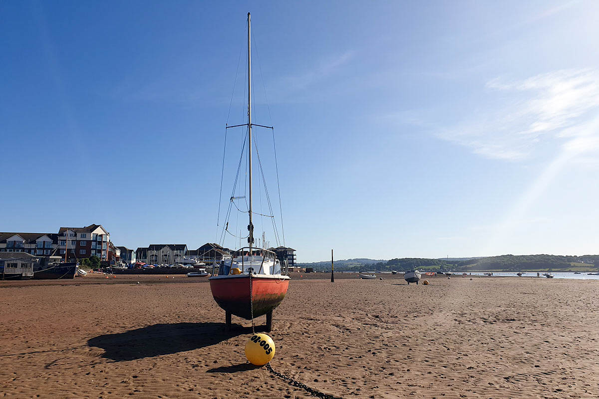 Boat on Exmouth Beach