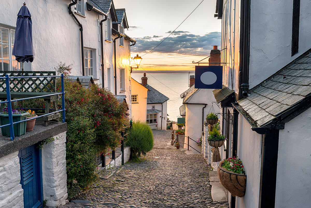 Clovelly in Devon, UK
