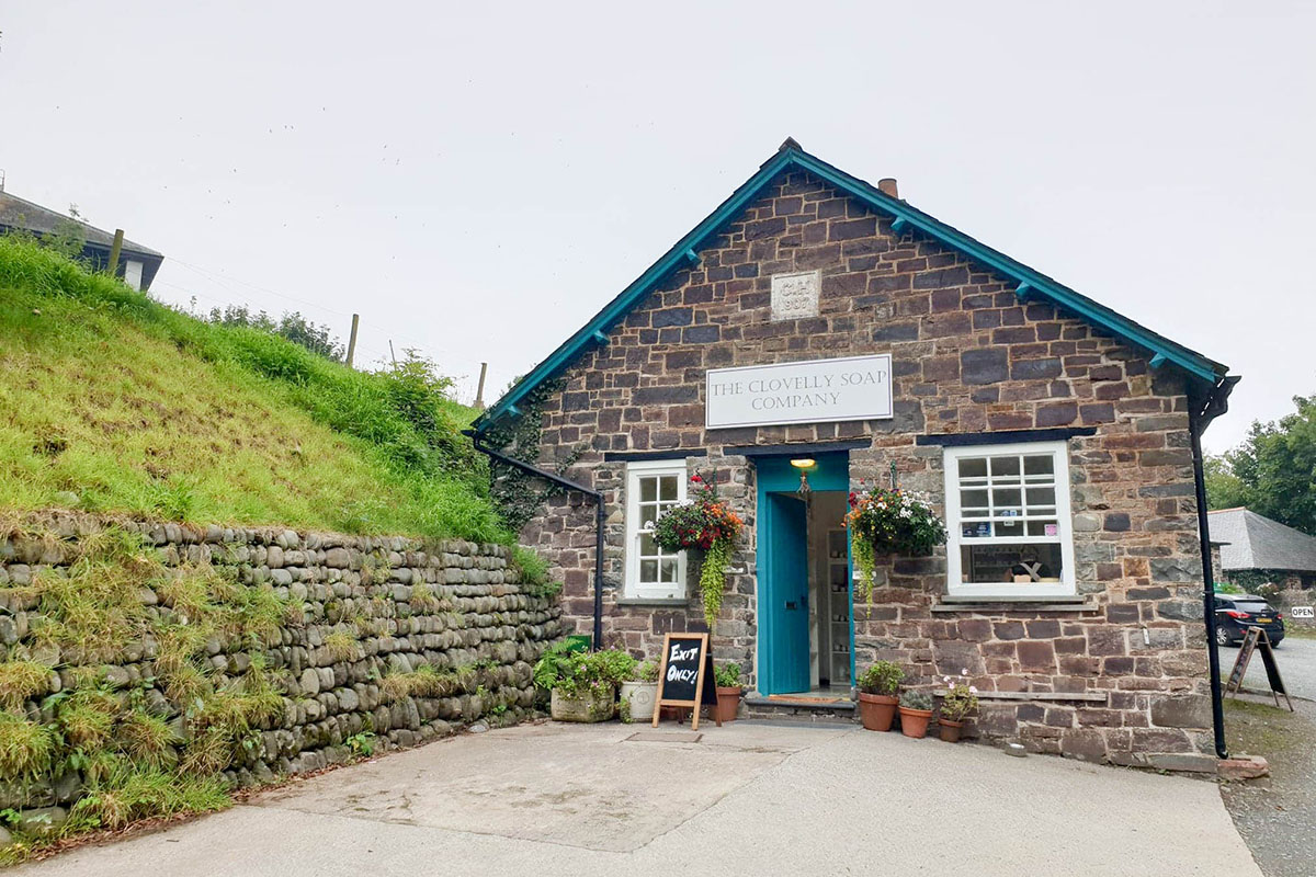 The Clovelly Soap Company in North Devon