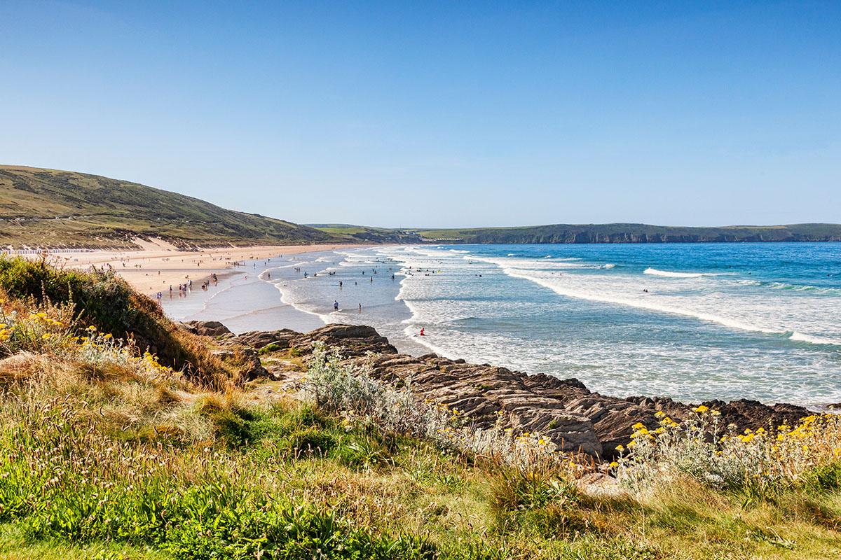 Beautiful beach in North Devon