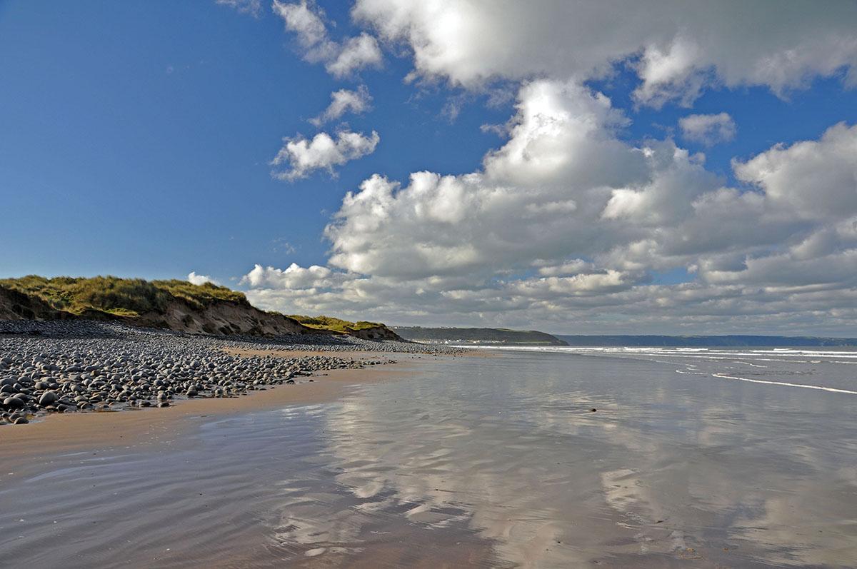 Westward Ho! Beach in North Devon