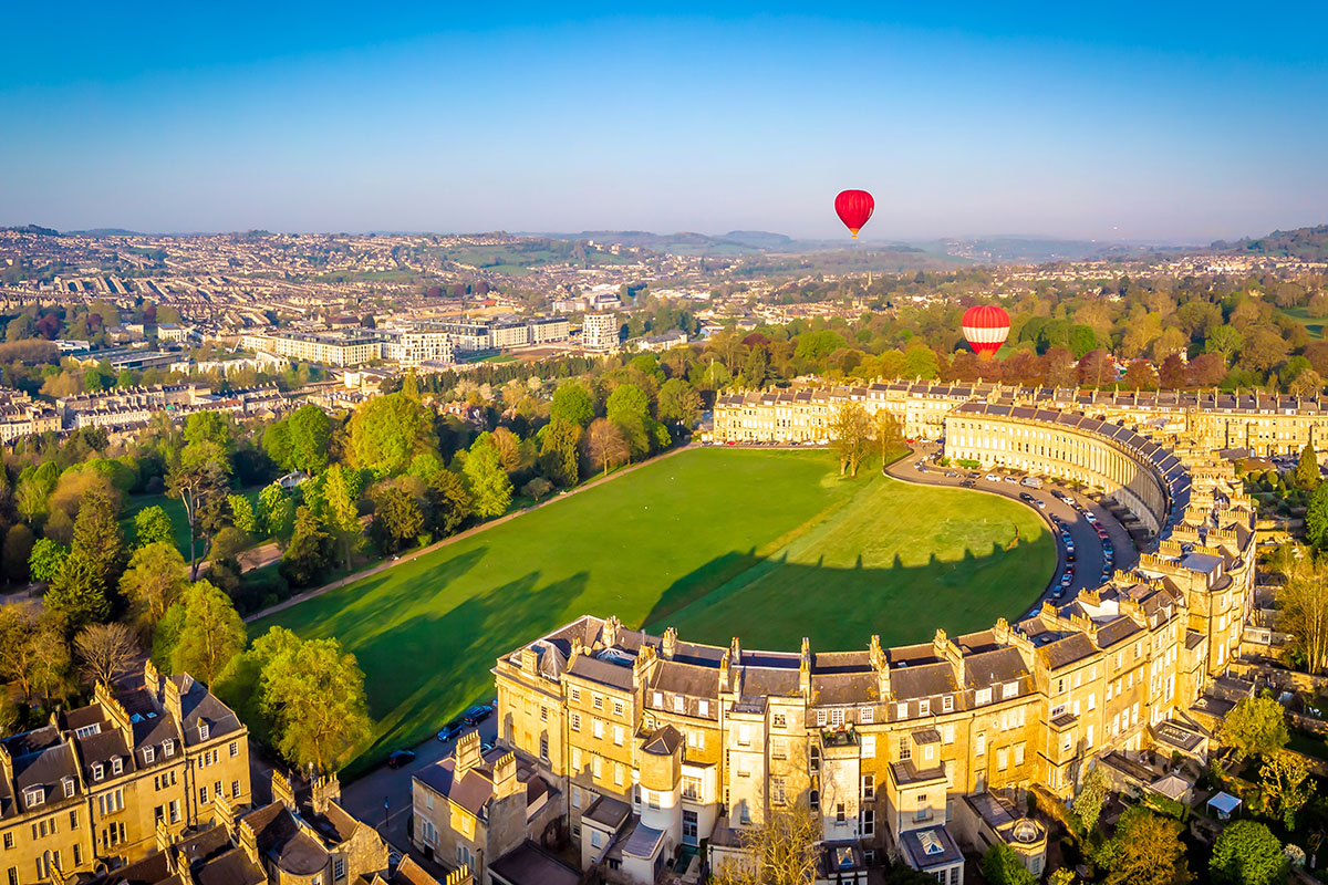 Crescent in Bath, Somerset, South West England