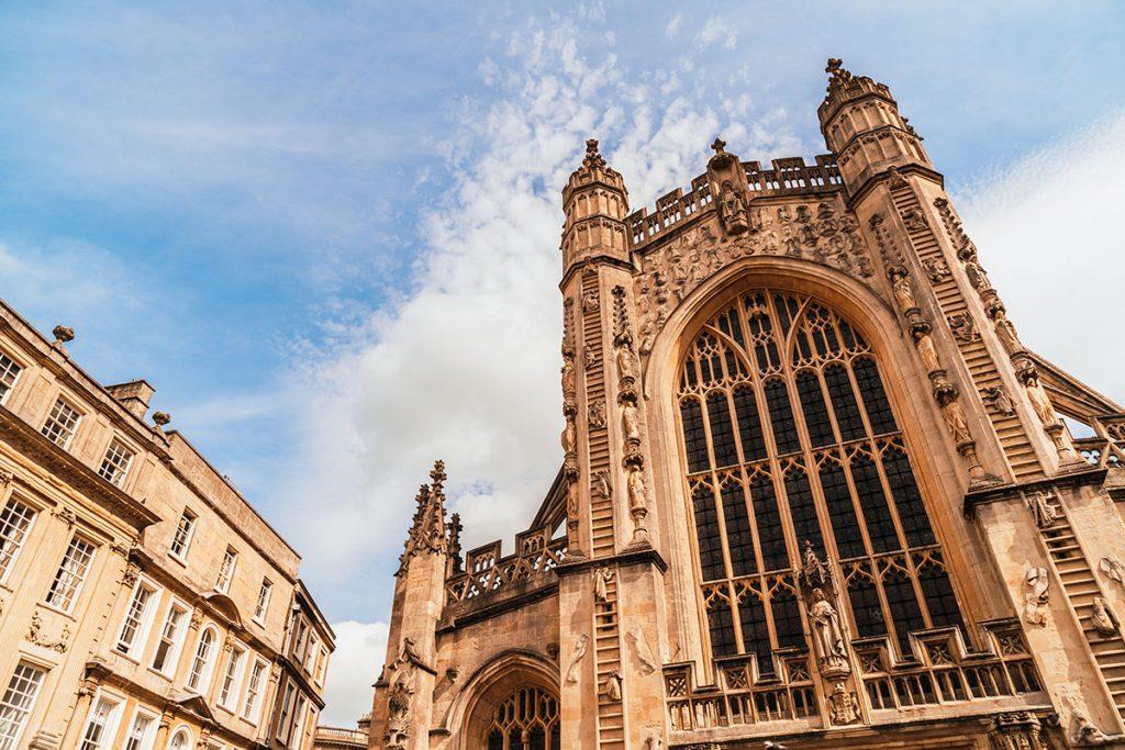 Bath Abbey in Bath, Somerset, South West England