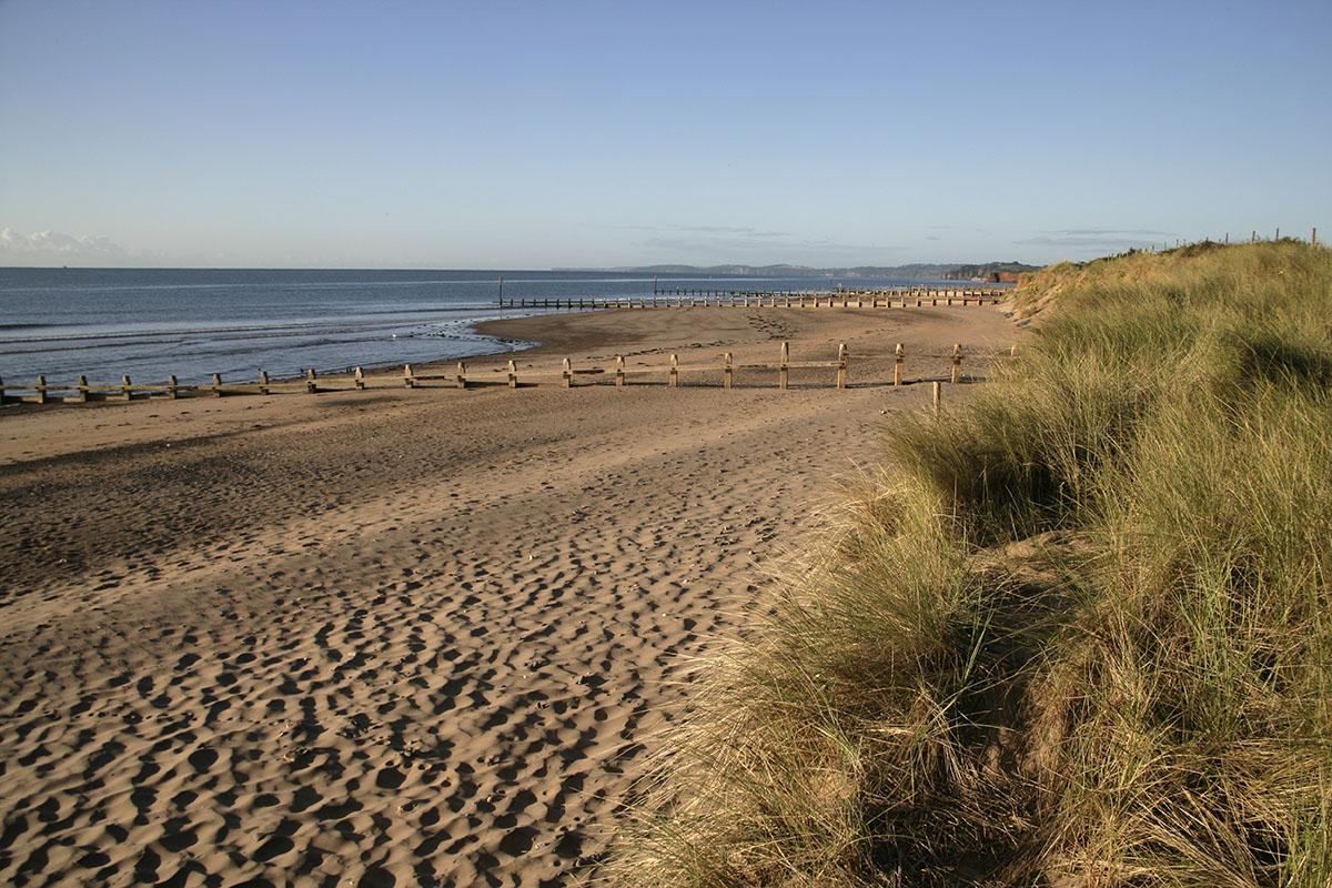 Beautiful beach at Dawlish Warren in Exmouth