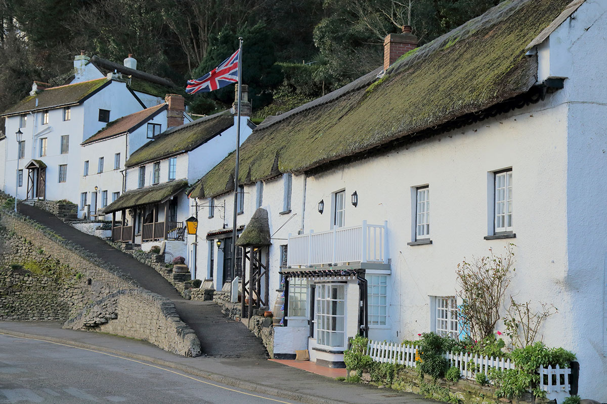 Beautiful houses in Lynmouth