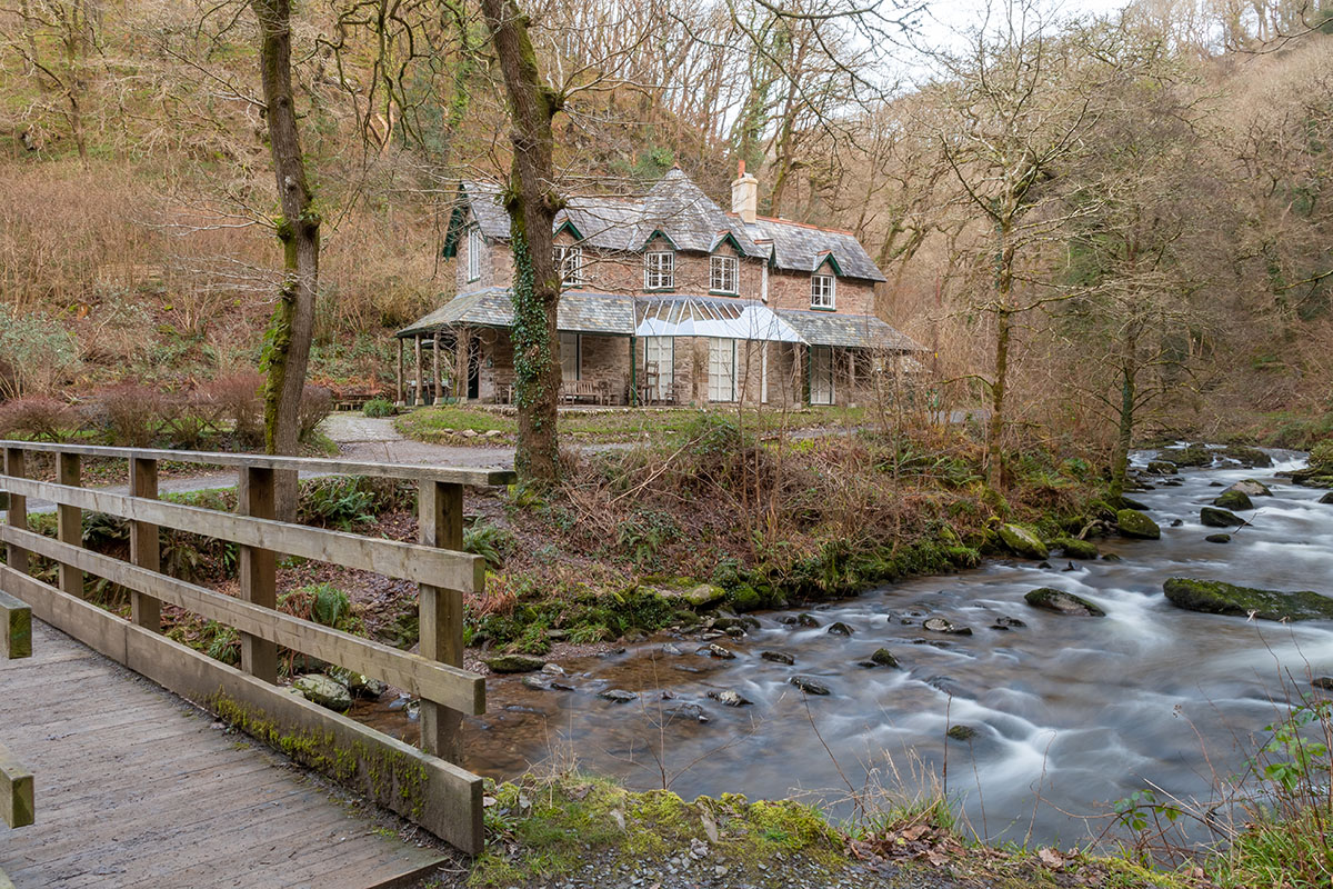 Watersmeet near Lynmouth in Exmoor National Park