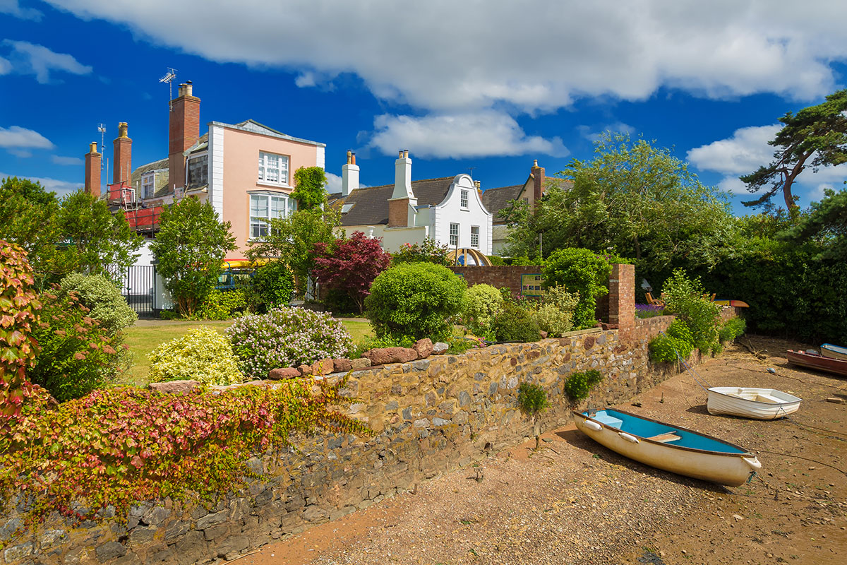 Beautiful gardens and a boat
