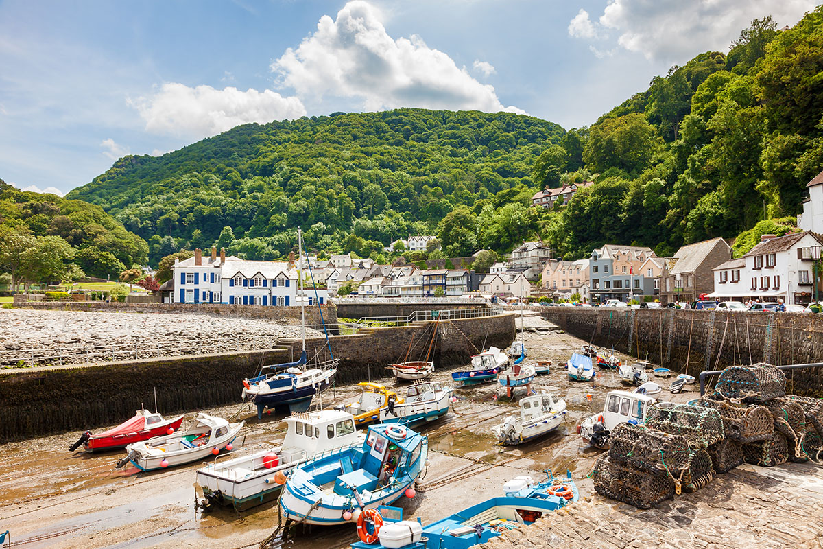 Lynmouth Beach in Exmoor National Park