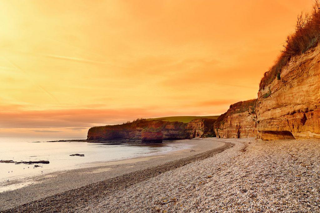 ladram bay in East Devon on the Jurassic Coast