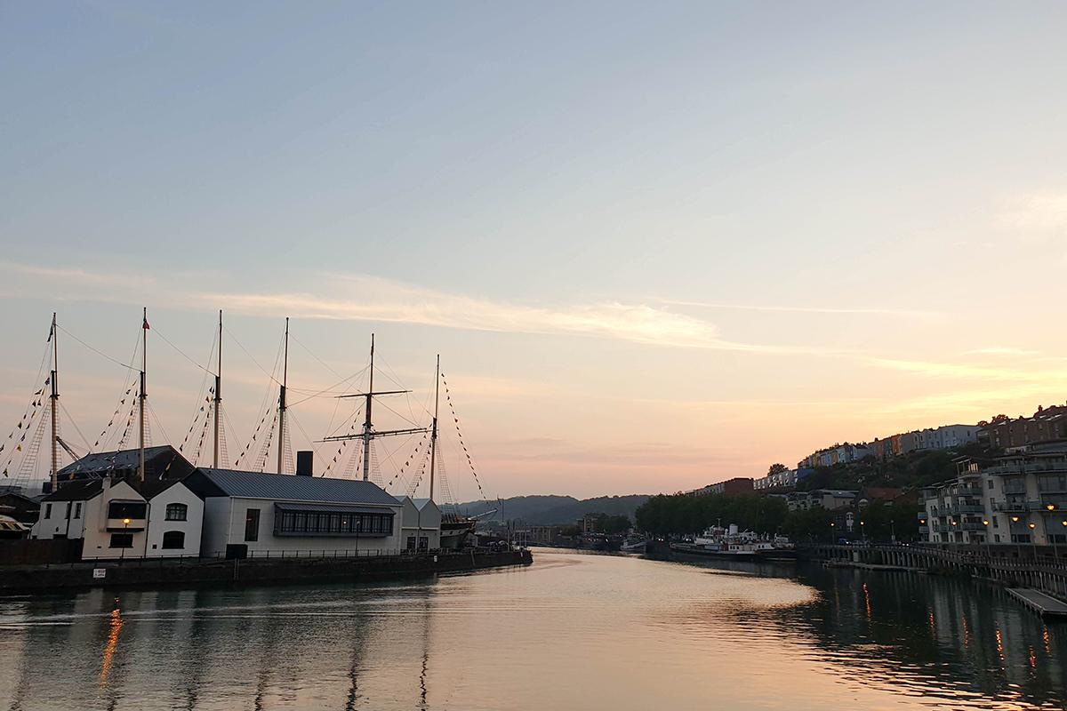 Sunset over the River Avon, Bristol
