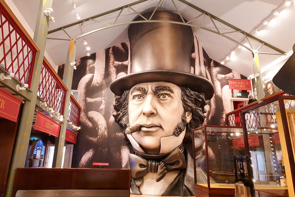 3D picture of Isambard Kingdom Brunel, SS Great Britain, Bristol