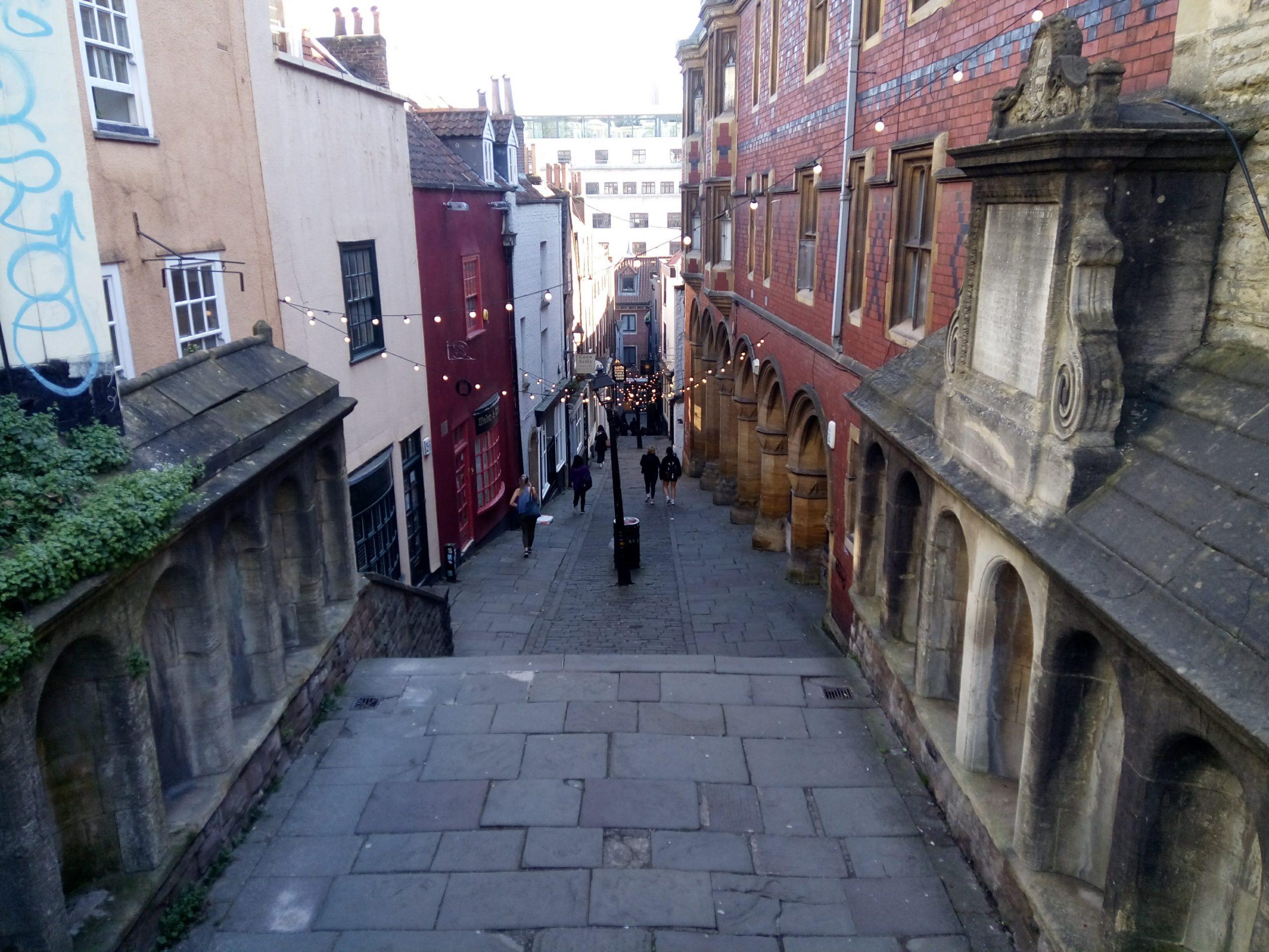 Christmas Steps, Bristol, SW England