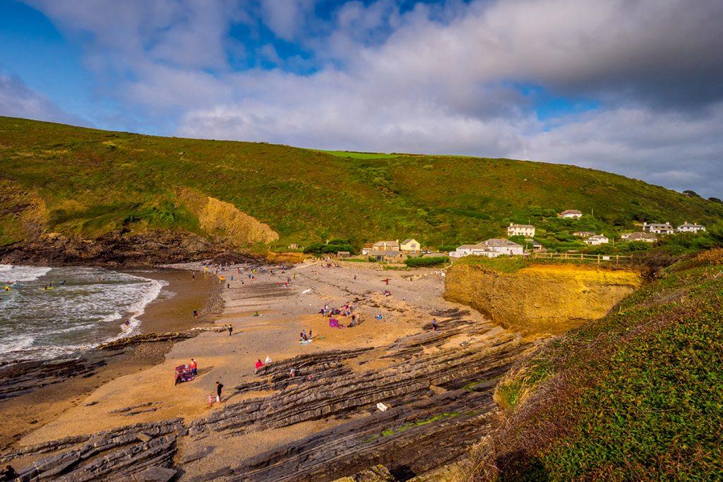 Beach at Crackington Haven, Cornwall