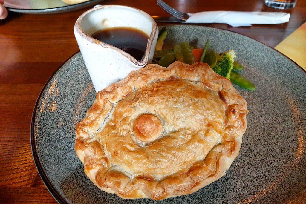 Pie at Jamaica Inn, Cornwall