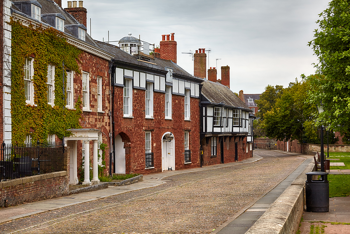 Exeter Cathedral Houses