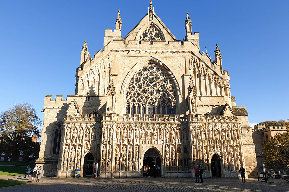 Exeter Cathedral Outside, Devon