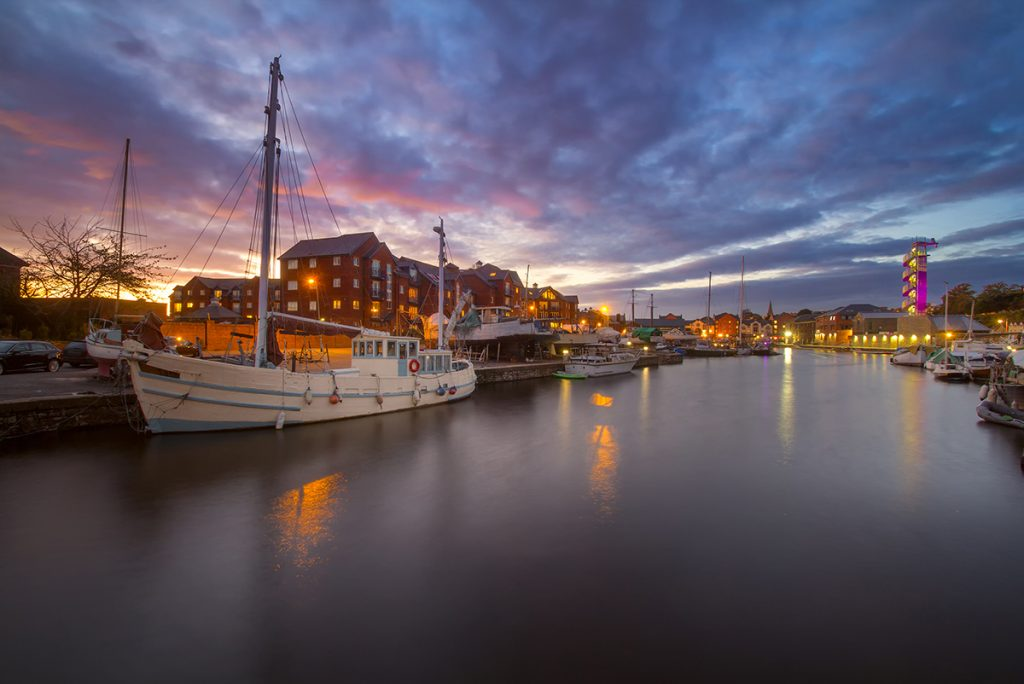 Exeter Quay Sunset