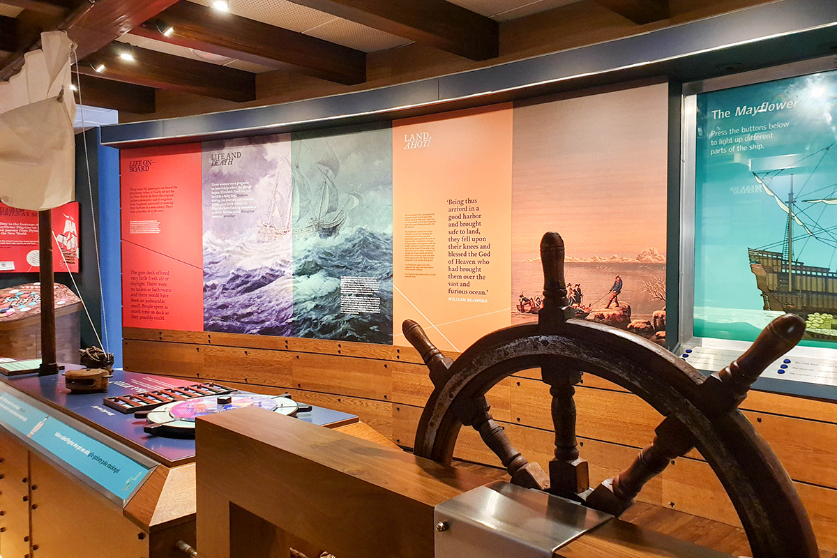Mayflower Museum inside