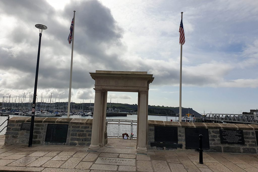 Mayflower Steps Plymouth near Barbican
