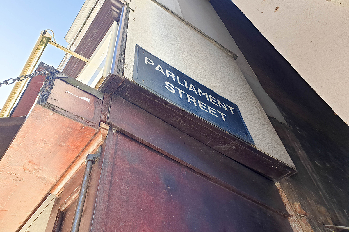 Parliament Street Sign Exeter