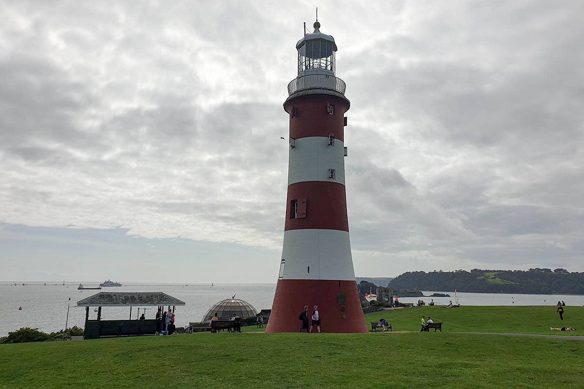 Smeetons Lighthouse on Plymouth Hoe