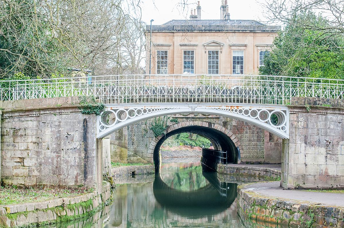 Bridge in park in Bath, Somerset