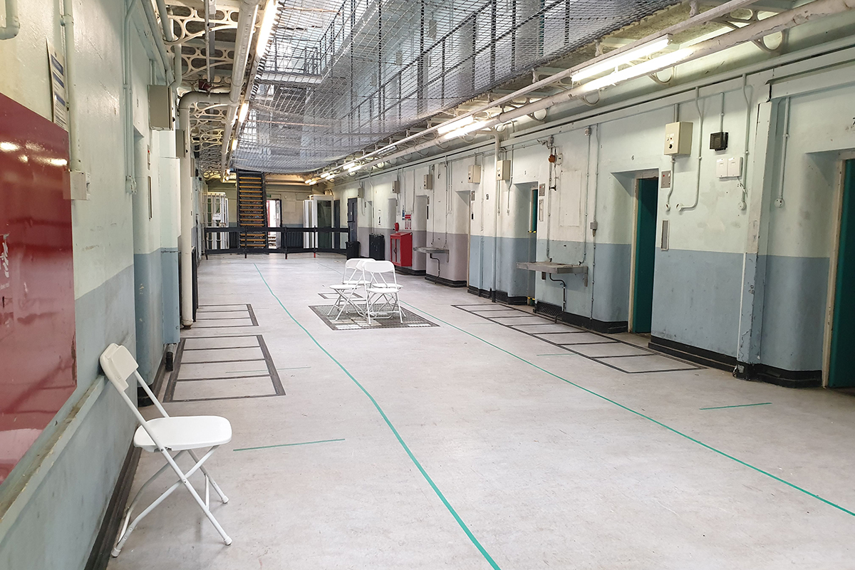 Shepton Mallet Prison in Somerset, South West England