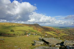 Sharp Tor from Stowes Hill, Bodmin Moor, Cornwall, England, UK