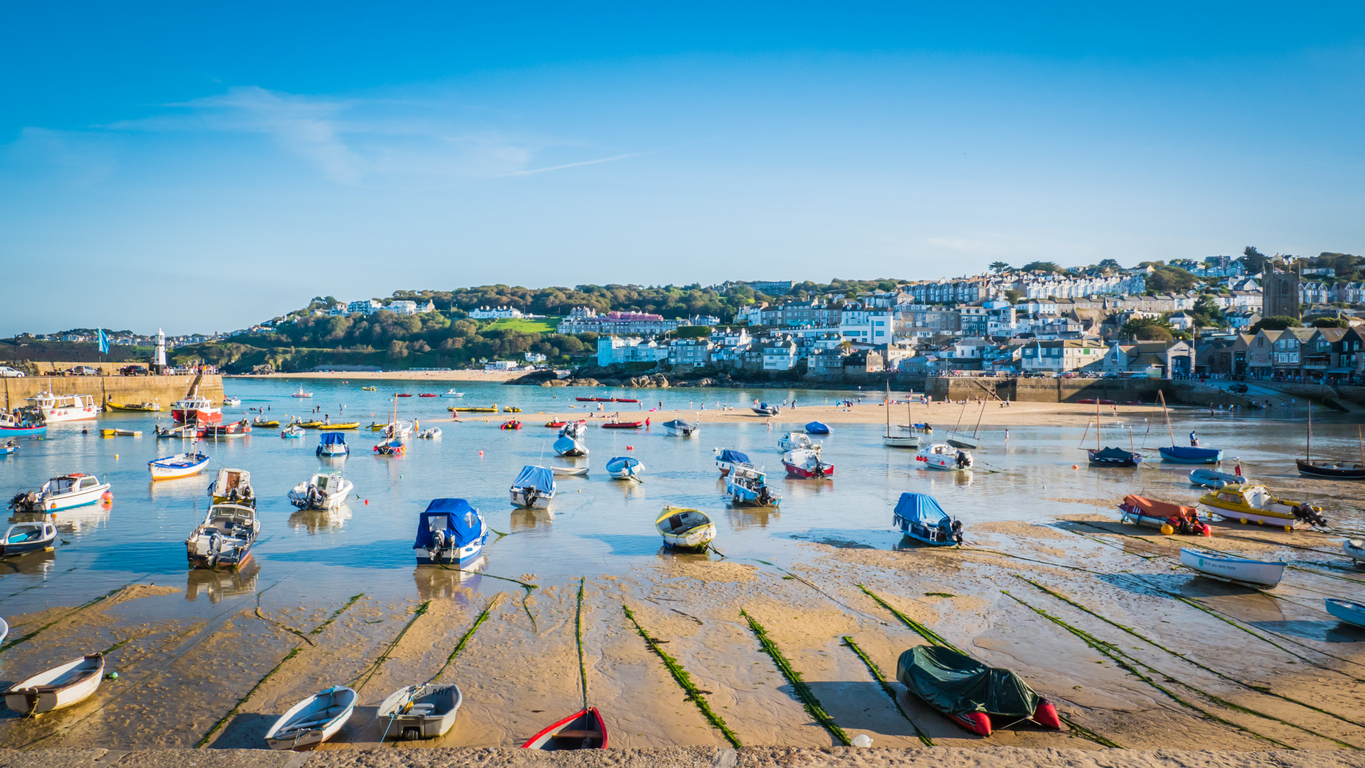 Beautiful St. Ives bay in Cornwall, UK