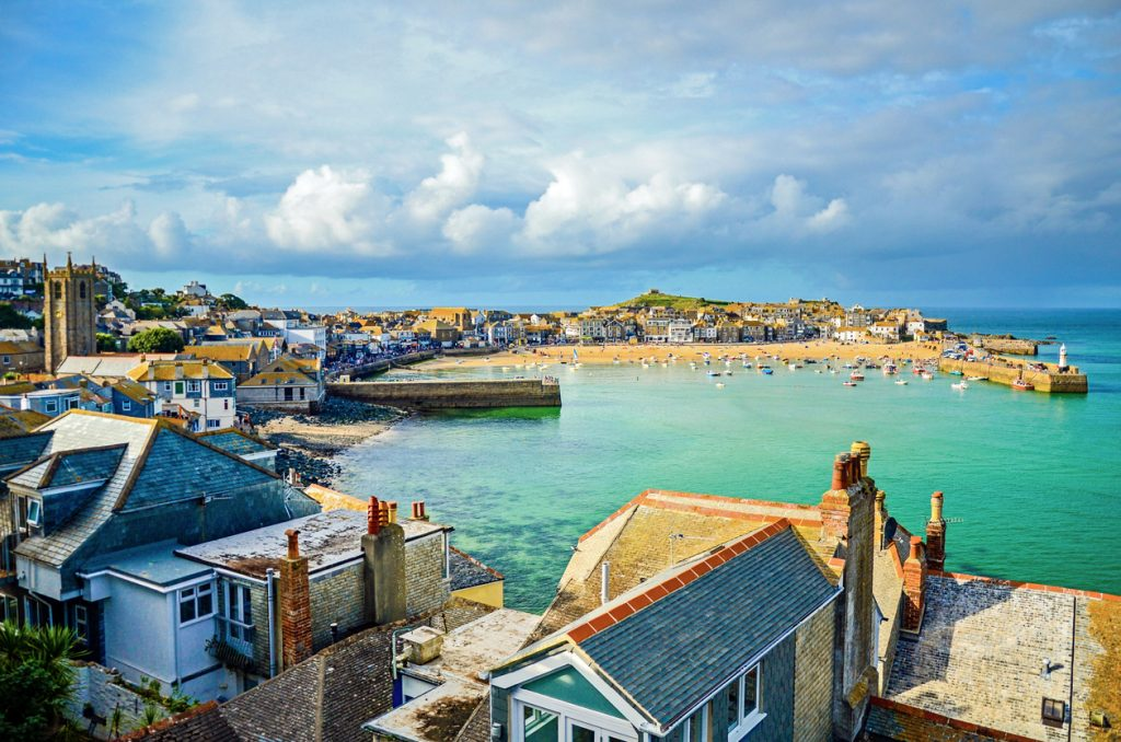 The town of St Ives, Cornwall, United Kingdom