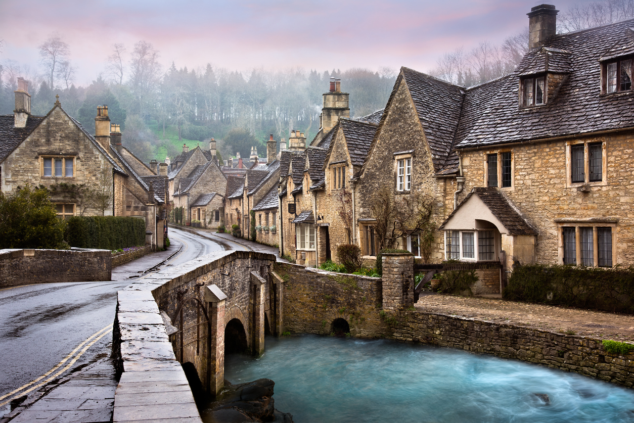 Castle Combe, a village in the Cotswolds, South West England