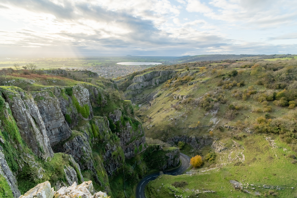 Cheddar Gorge in Somerset, South West England