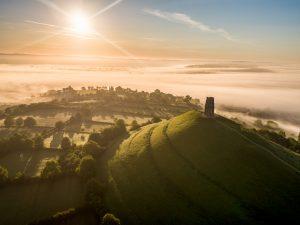 Glastonbury Tor Sunrise, Somerset