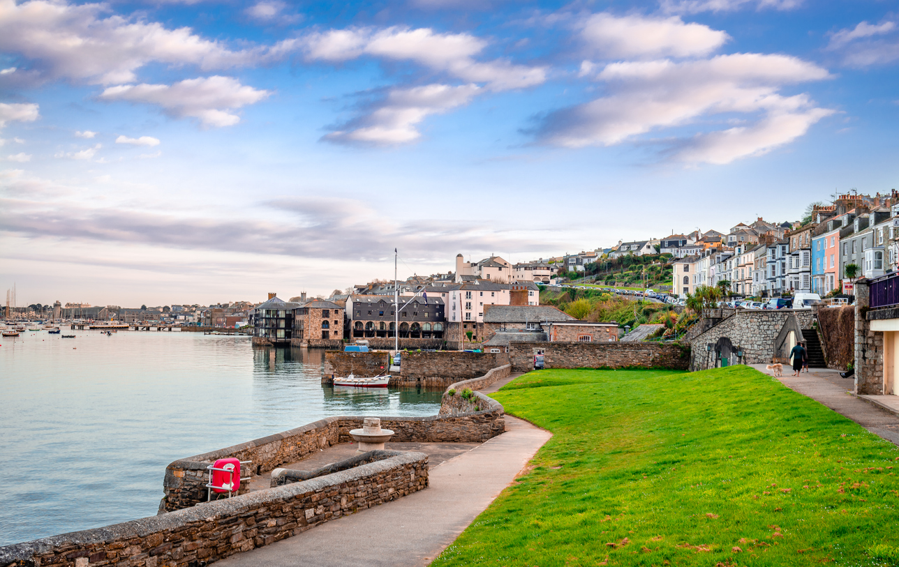 The Penryn river and the Falmouth harbour, in Cornwall, England.