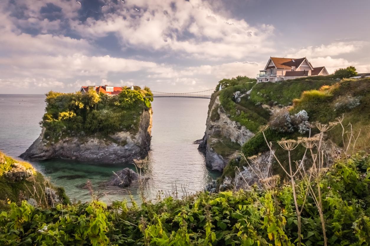 Towan rock and beach, Newquay, Cornwall