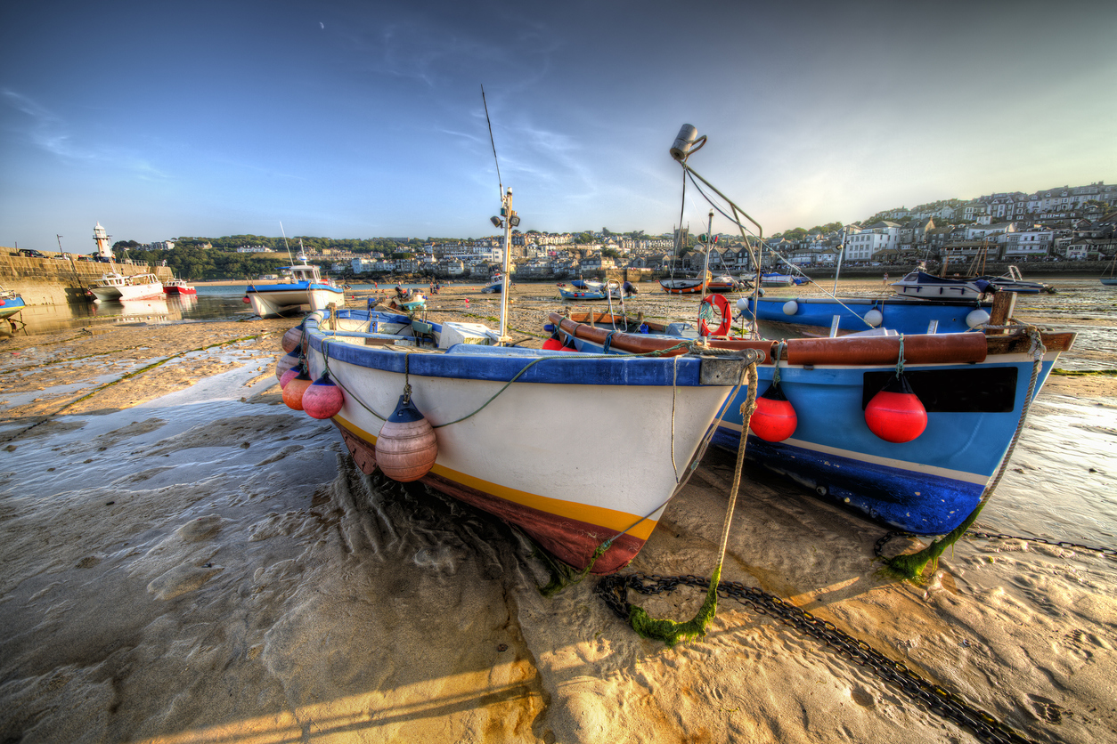 Boats at St Ives in Cornwall