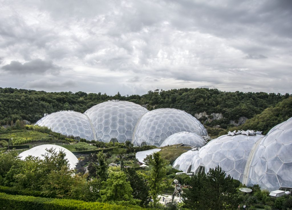Eden Project near St Austell in Cornwall, South West England