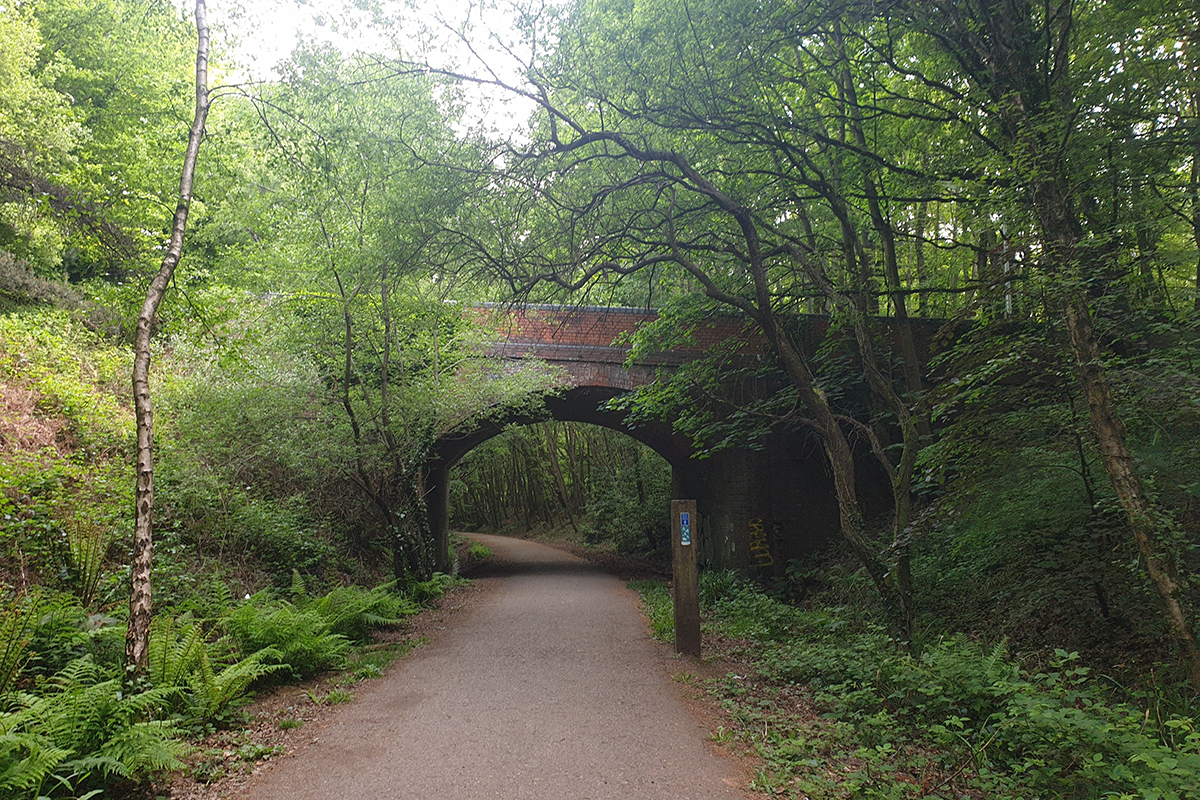 A tunnel on the Exmouth to Budleigh Salterton coast path