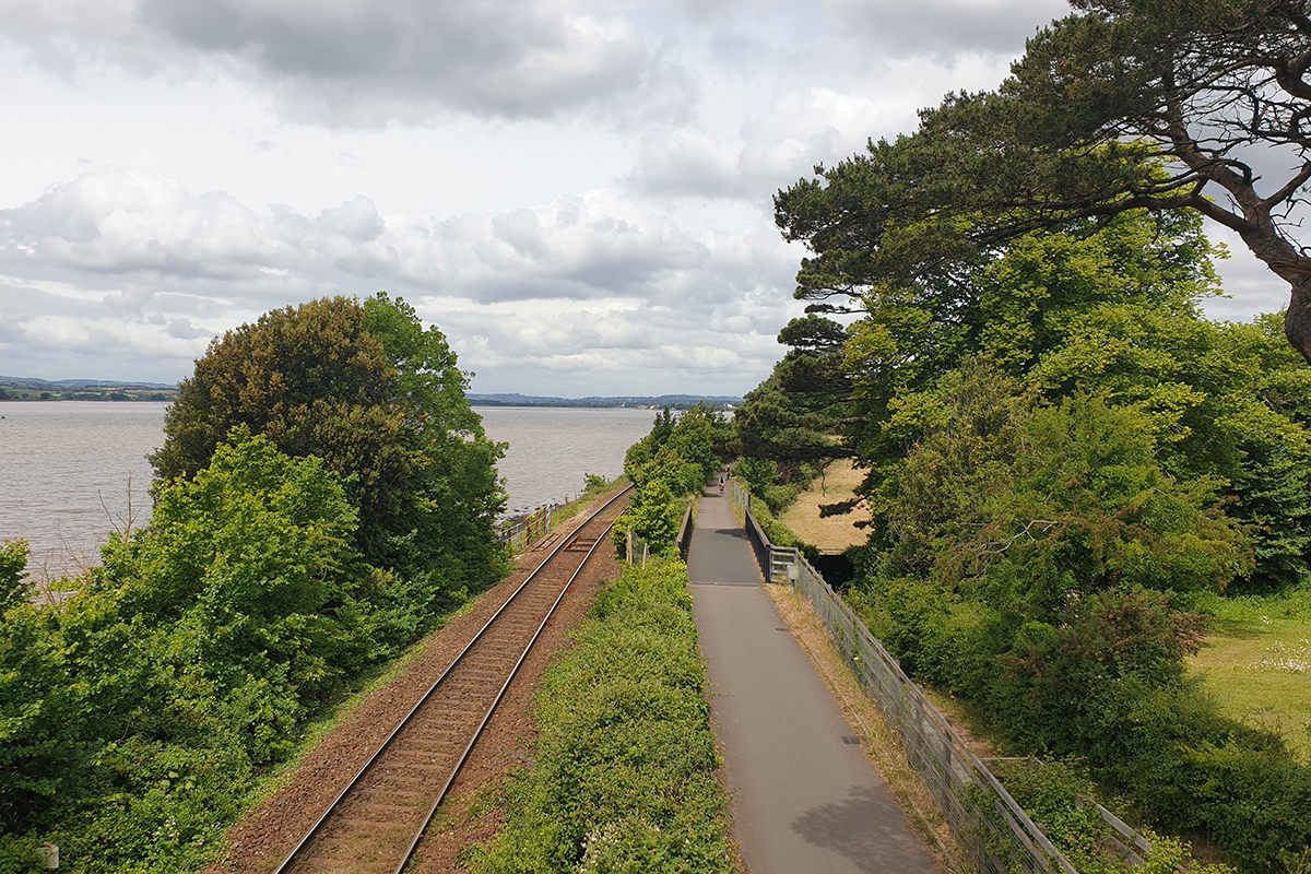 Train tracks along the Exe Estuary