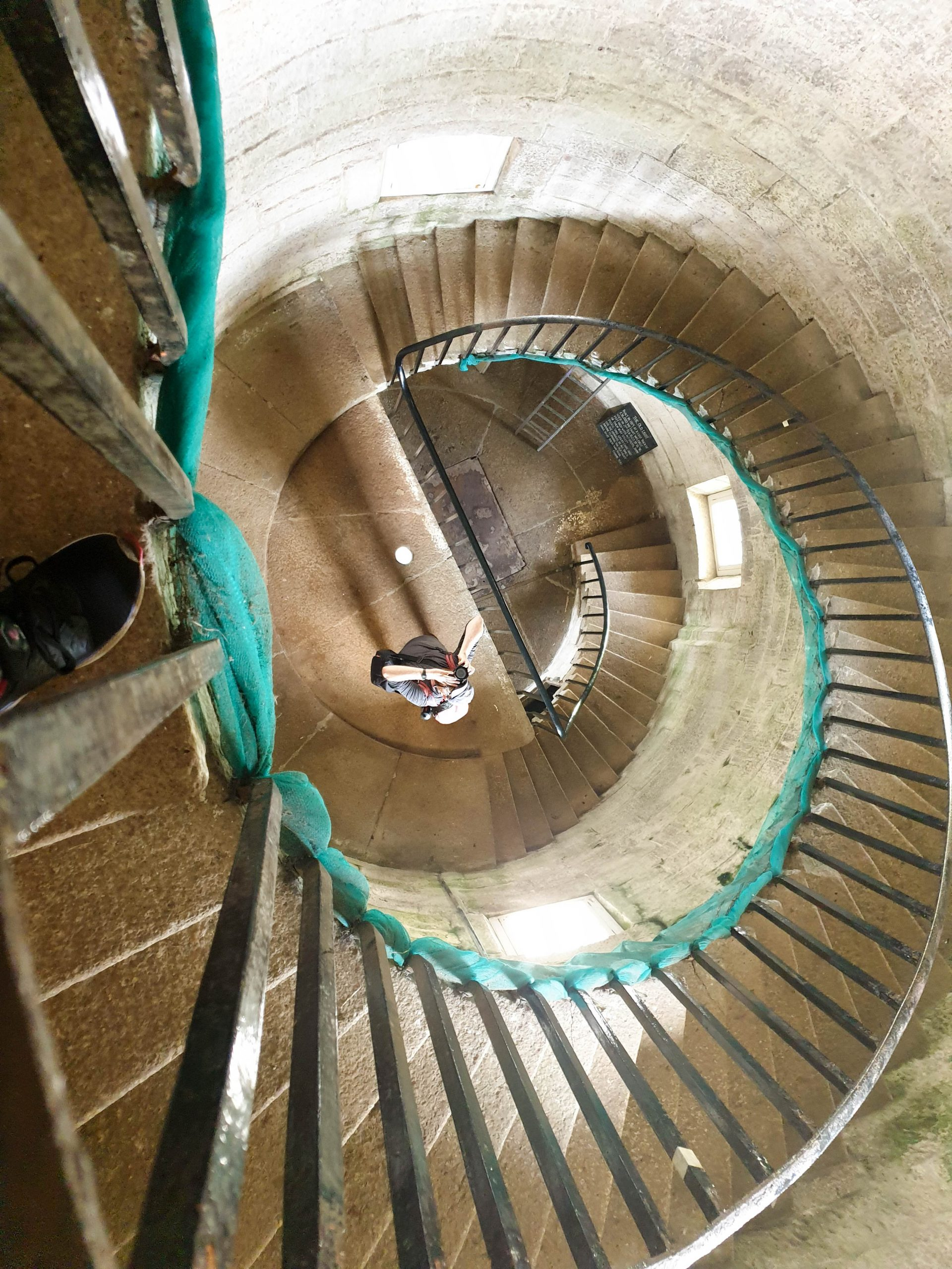 Spiral staircase in the Lighthouse in Lundy Island, Devon