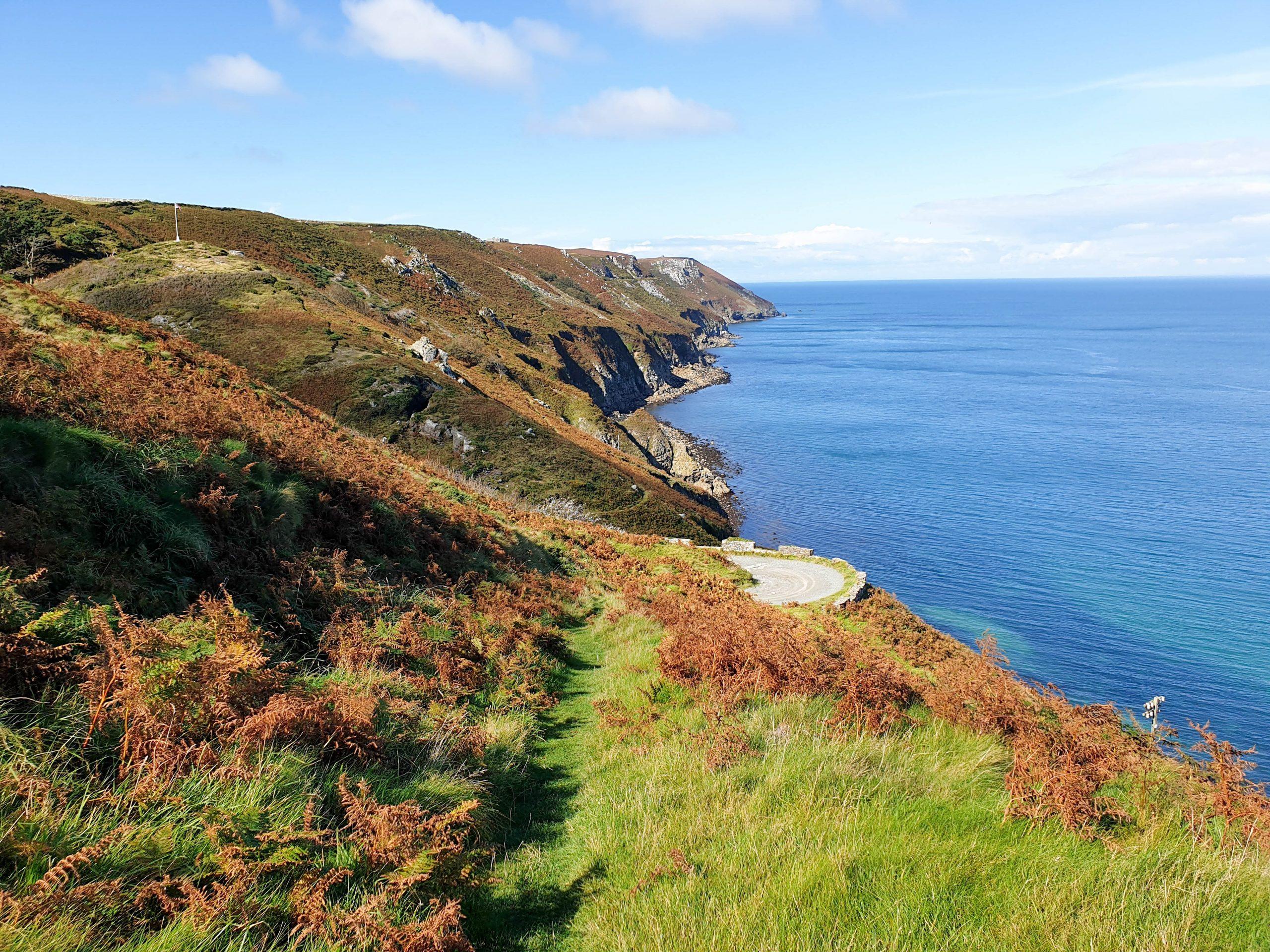Coastline of Lundy Island, an island off of North Devon