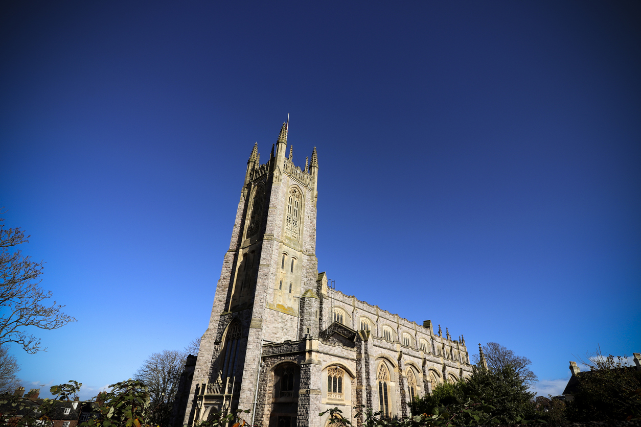 Exmouth Church in Devon, UK
