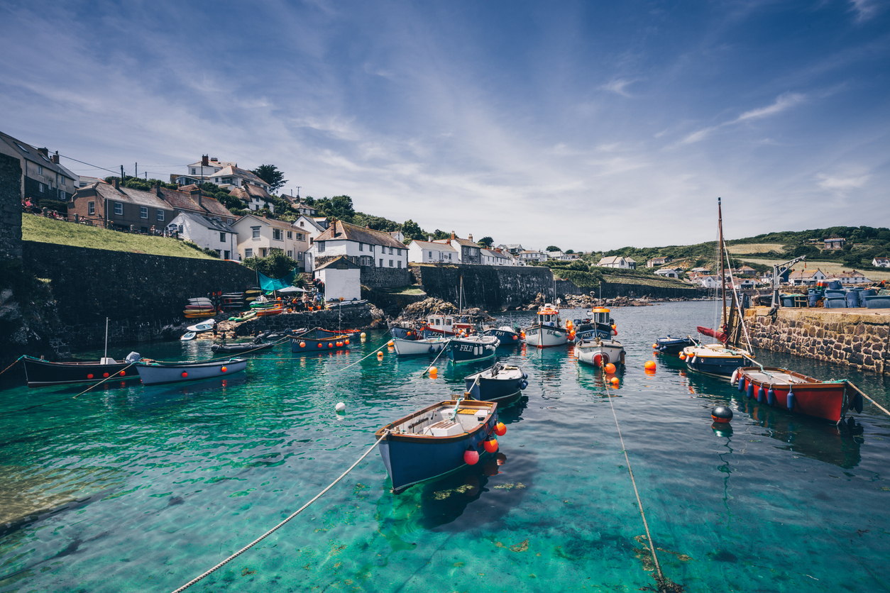 The Harbour and Fishing Village of Coverack in Cornwall, South West England