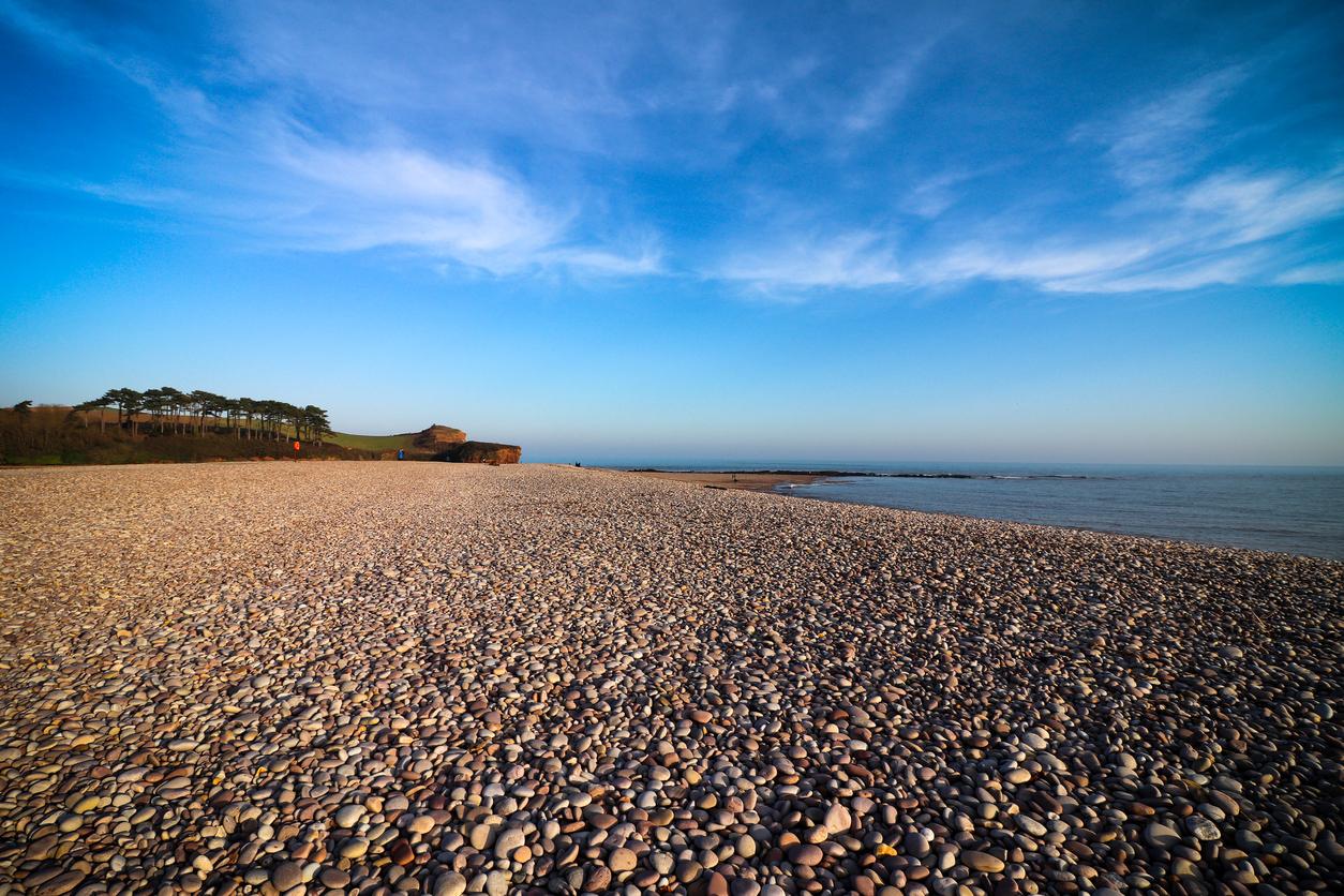 Budleigh Salterton Beach, Near Exmouth in Devon, South West UK