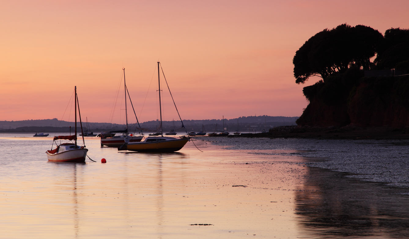 A beautiful sunset on the River Exe in Devon