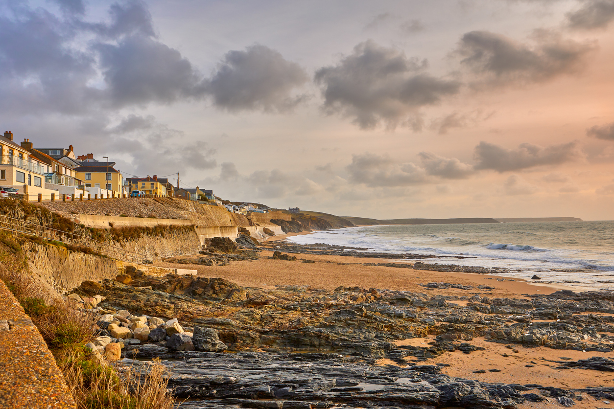 Porthleven Beach, Cornwall, South West UK