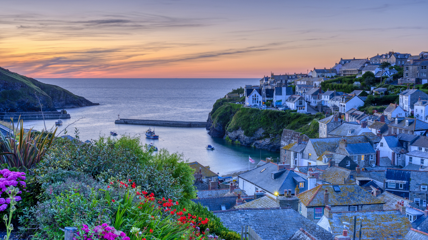 Sunset in Port Isaac, Cornwall, South West England