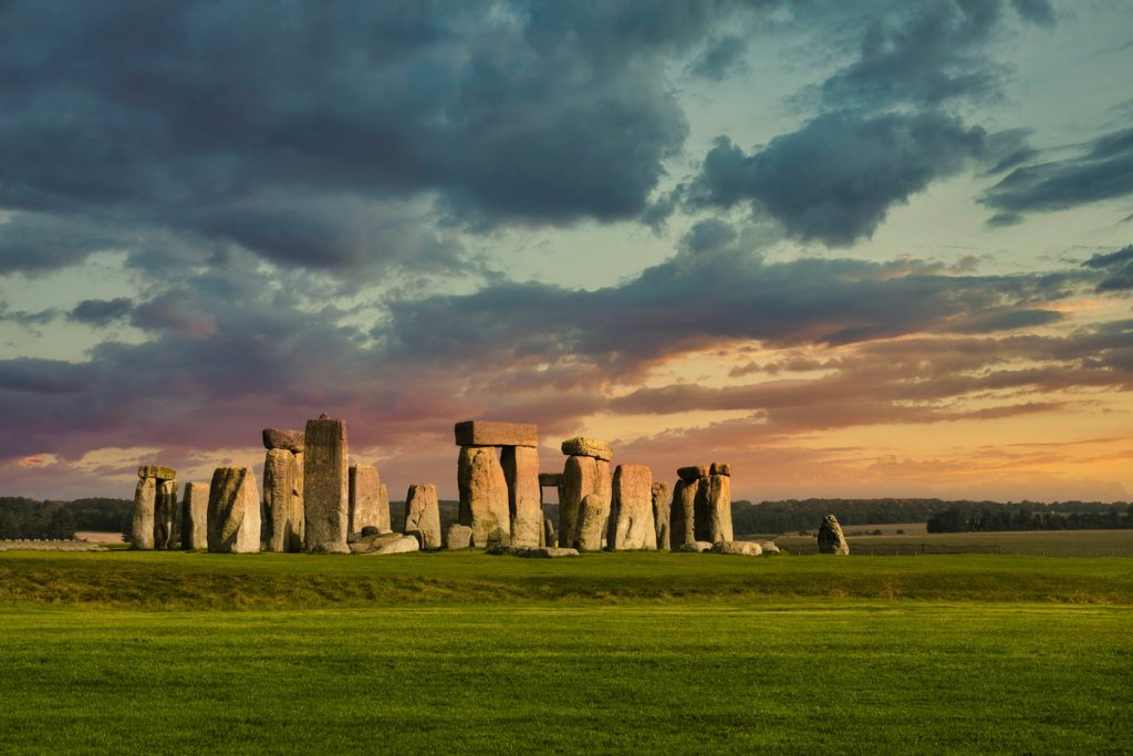 Evening at Stonehenge, near Salisbury in Wiltshire