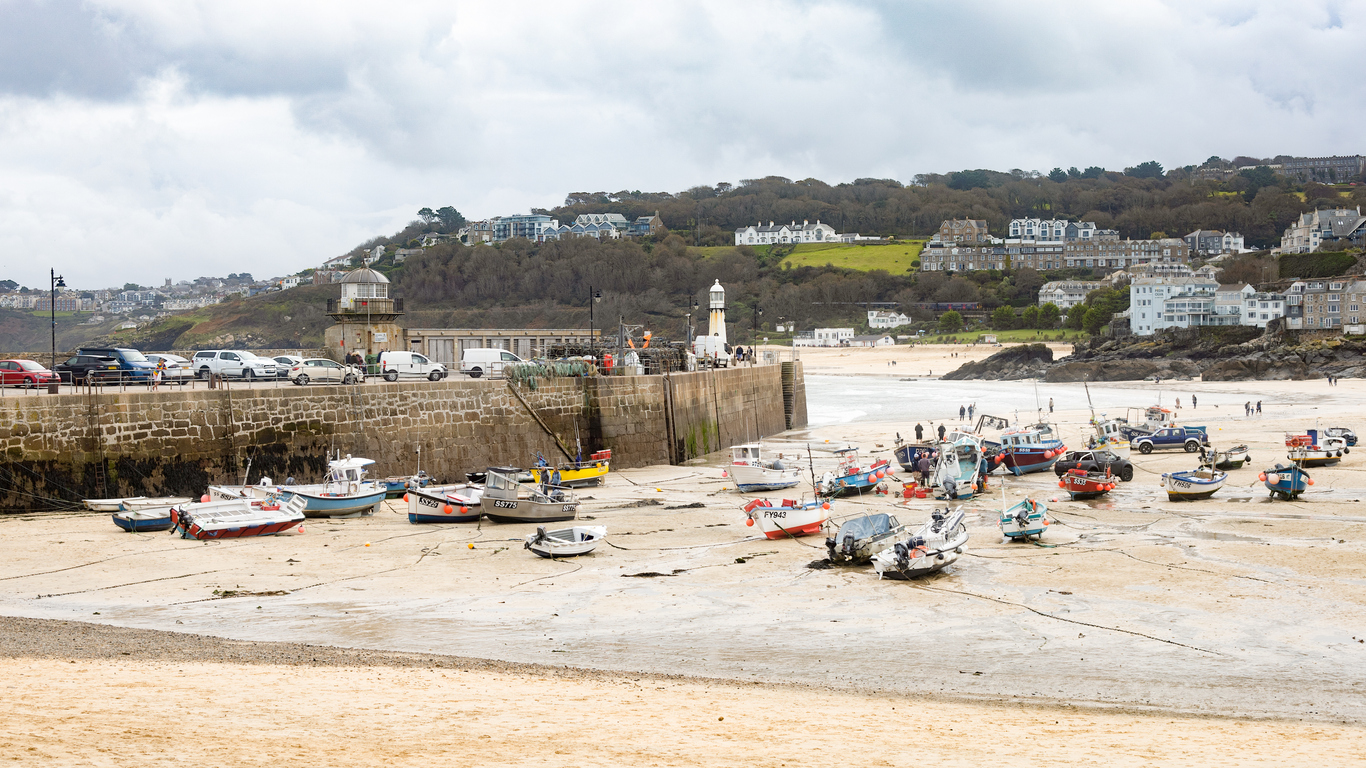 Beautiful Saint Ives Harbour in Cornwall