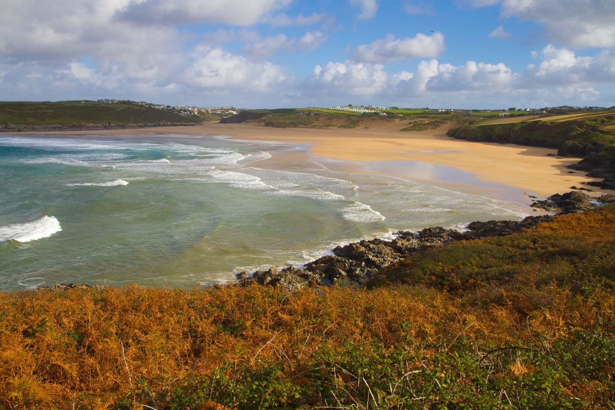 Cornwall coast in autumn